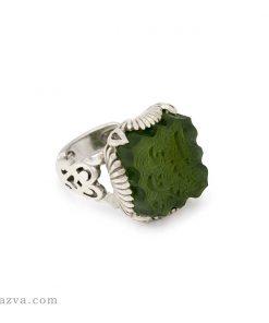 Bague jade vert indien