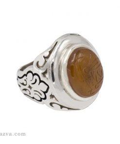 انگشتر مردانه عقیق یمن z052-1