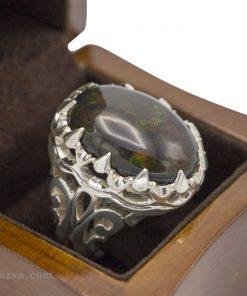 Bague opale homme