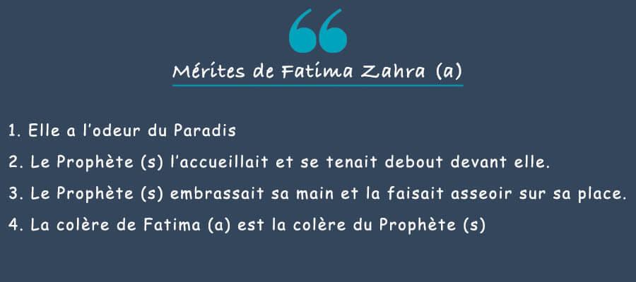 mérites de fatima zahra