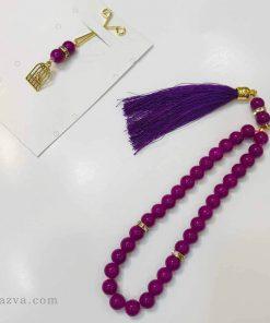 pince à foulard violet