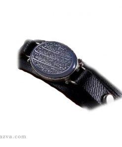 bracelet cuir pierre hématite