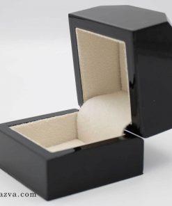 Achat de boîte bague luxe en bois pas cher noire