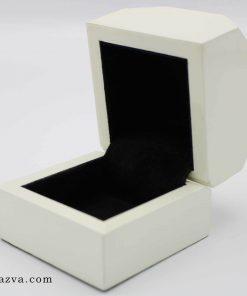 Boîte bague en bois luxe blanche pas cher