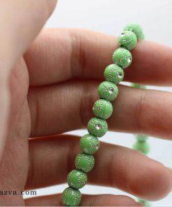 Chapelet islam 101 perles plastique léger couleur vert