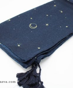 Écharpe femme coton bleu foncé islam pas cher